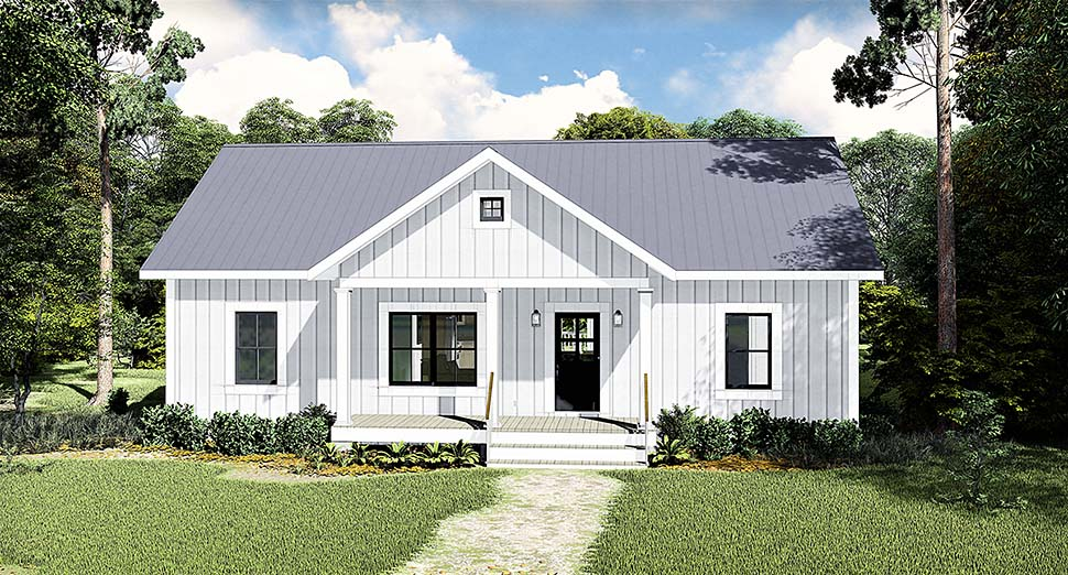 Cottage, Country House Plan 77400 with 3 Beds , 2 Baths Elevation