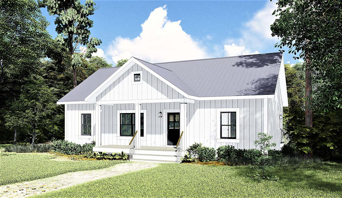 Cottage, Country House Plan 77400 with 3 Beds, 2 Baths Picture 1