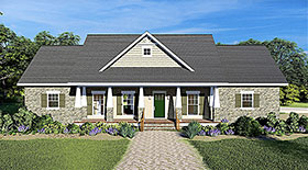 Traditional , Craftsman , Country House Plan 77401 with 3 Beds, 3 Baths, 2 Car Garage Elevation