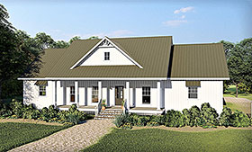 Traditional , Farmhouse , Country House Plan 77402 with 3 Beds, 3 Baths, 2 Car Garage Elevation