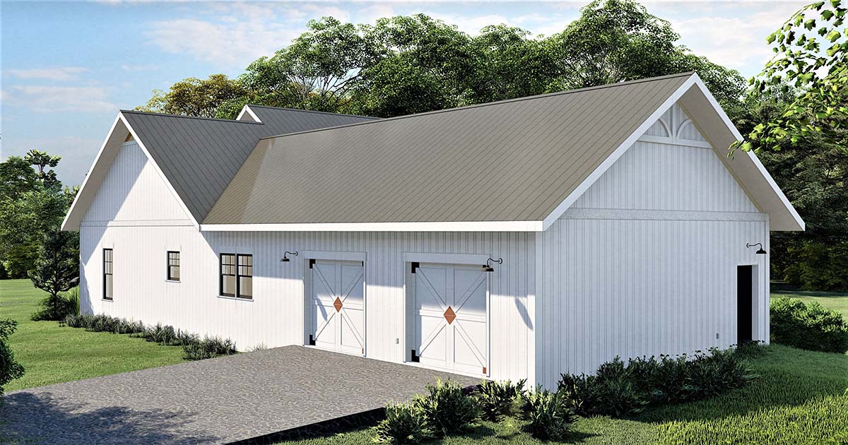 Country, Southern House Plan 77408 with 4 Beds, 3 Baths, 2 Car Garage Picture 1