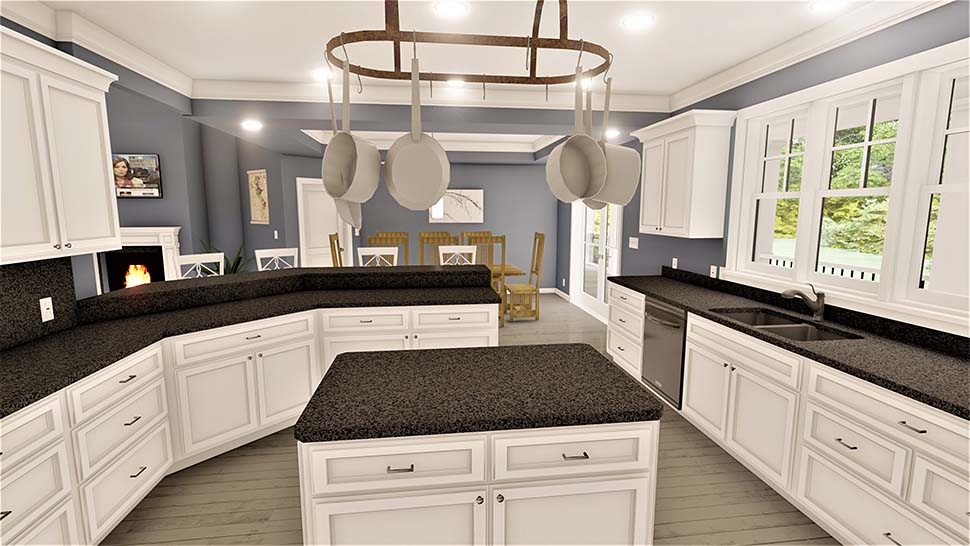 Country, Southern House Plan 77408 with 4 Beds, 3 Baths, 2 Car Garage Picture 3