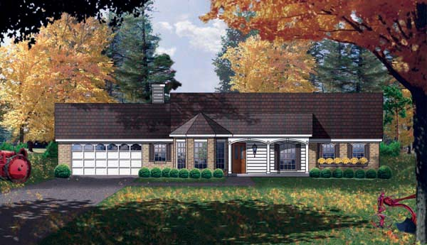 Country House Plan 77709 Elevation