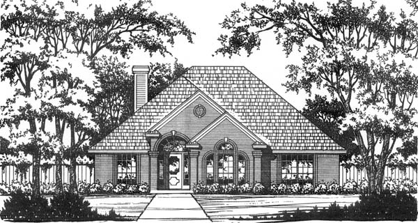 Traditional House Plan 77713 with 3 Beds, 2 Baths, 2 Car Garage Elevation