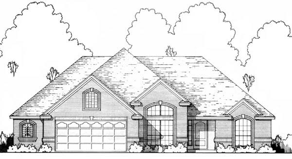 Traditional House Plan 77714 with 3 Beds, 2 Baths, 2 Car Garage Elevation