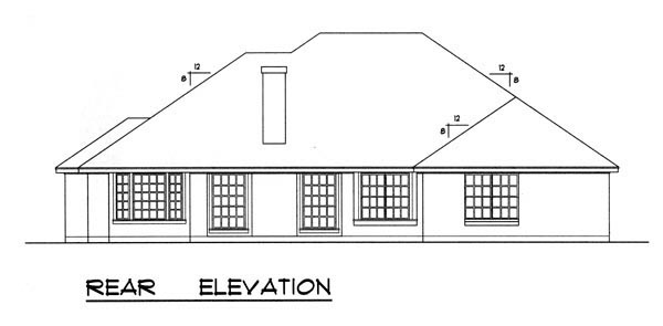 Traditional House Plan 77718 Rear Elevation