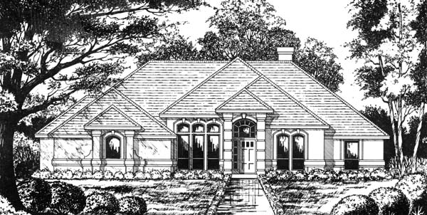 Traditional House Plan 77719 Elevation
