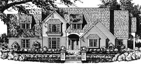 House Plan 77724 | Traditional Style Plan with 2387 Sq Ft, 2 Car Garage Elevation