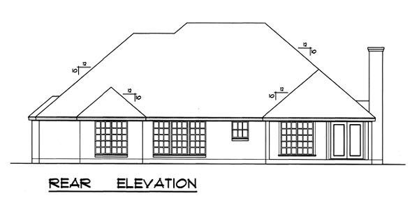 Traditional House Plan 77728 Rear Elevation