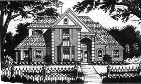 European , Traditional House Plan 77730 with 4 Beds, 4 Baths, 2 Car Garage Elevation