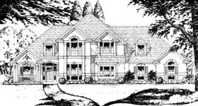 European House Plan 77732 Elevation