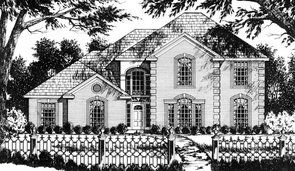 Traditional House Plan 77733 Elevation