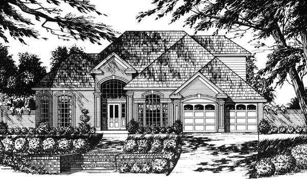 Traditional House Plan 77734 Elevation
