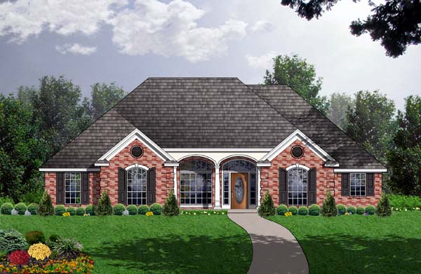 Country House Plan 77741 Elevation