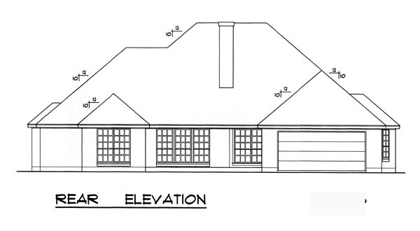 Country House Plan 77741 Rear Elevation