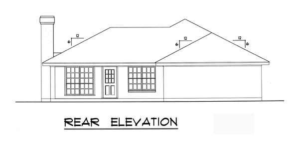 Traditional House Plan 77743 Rear Elevation