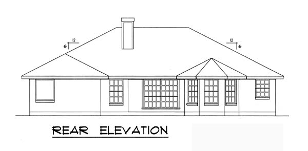 Traditional House Plan 77745 Rear Elevation