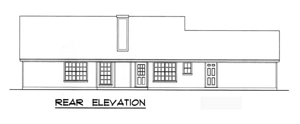 Country House Plan 77746 Rear Elevation