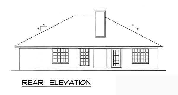 Traditional House Plan 77747 Rear Elevation