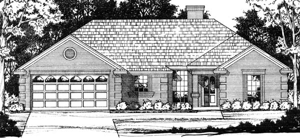 Traditional House Plan 77748 with 4 Beds, 3 Baths, 2 Car Garage Elevation