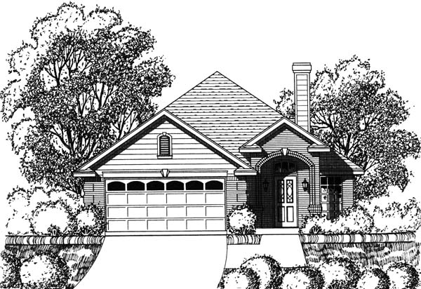Traditional Elevation of Plan 77750
