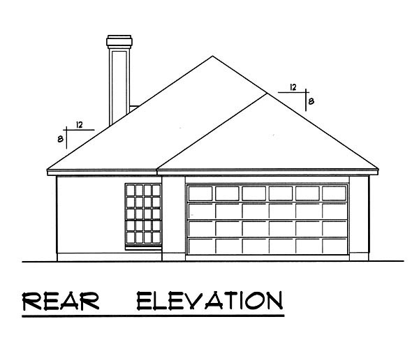 Traditional House Plan 77754 Rear Elevation