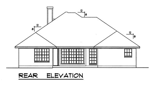 Traditional House Plan 77755 Rear Elevation