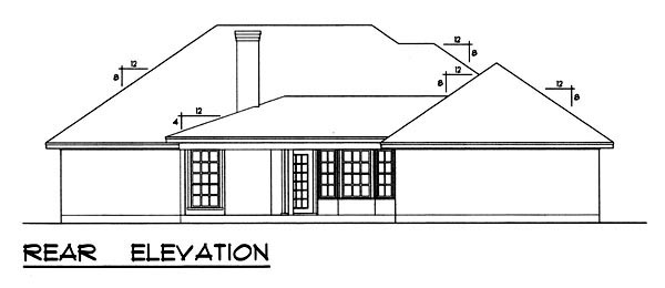 Traditional House Plan 77756 Rear Elevation