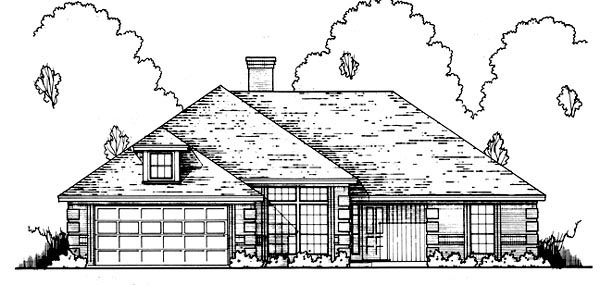 Traditional House Plan 77758 with 4 Beds, 3 Baths, 2 Car Garage Front Elevation