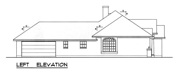 Traditional House Plan 77760 with 3 Beds, 2 Baths, 2 Car Garage Picture 1
