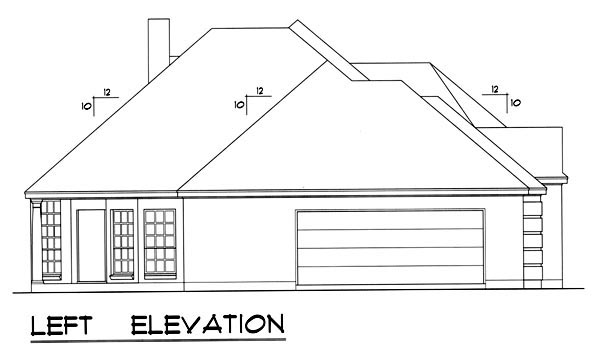 Traditional House Plan 77762 with 3 Beds, 2 Baths, 2 Car Garage Picture 1