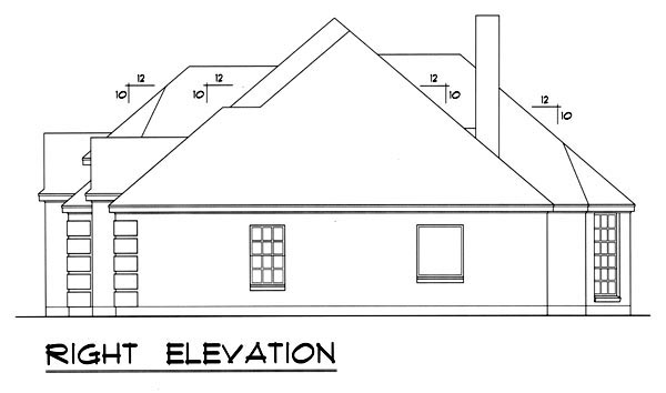 Traditional House Plan 77762 with 3 Beds, 2 Baths, 2 Car Garage Picture 2