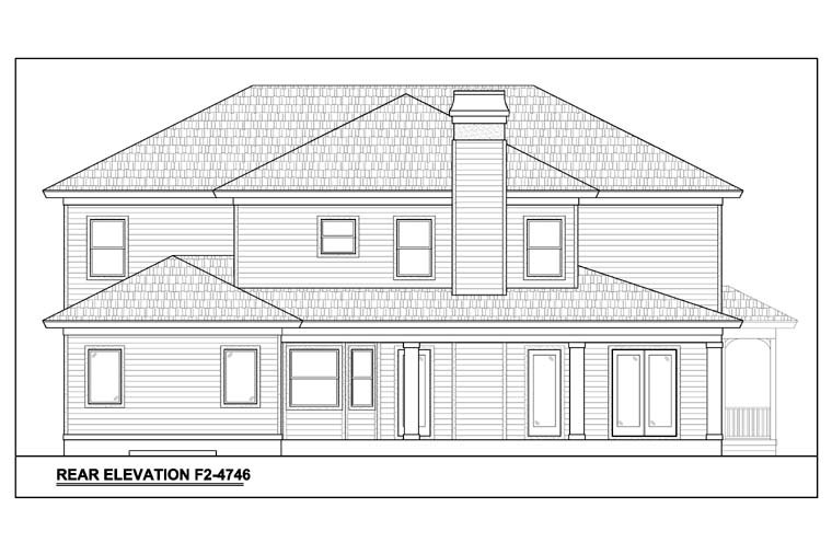 Traditional House Plan 78101 Rear Elevation