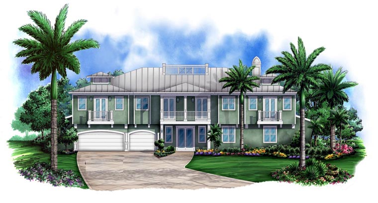 Florida House Plan 78103 Elevation