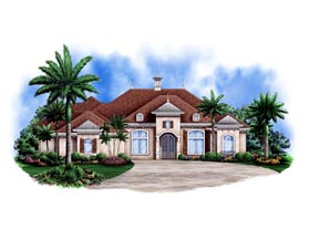 Mediterranean House Plan 78104 Elevation