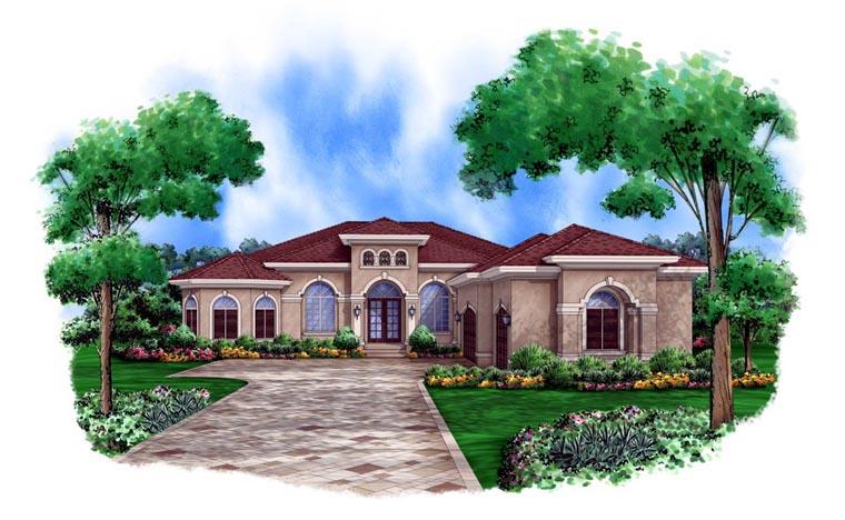 Mediterranean House Plan 78105 Elevation