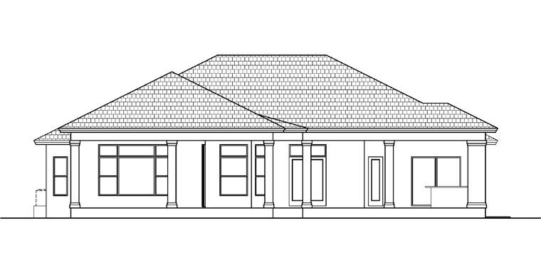 Mediterranean House Plan 78105 Rear Elevation