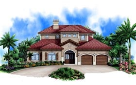 Mediterranean House Plan 78106 Elevation