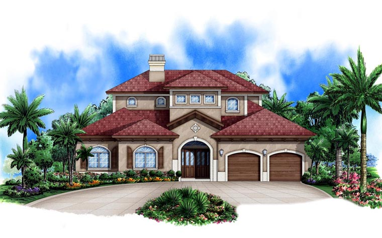 Mediterranean House Plan 78106 Elevation