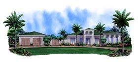 Mediterranean House Plan 78109 with 3 Beds, 3 Baths, 3 Car Garage Elevation