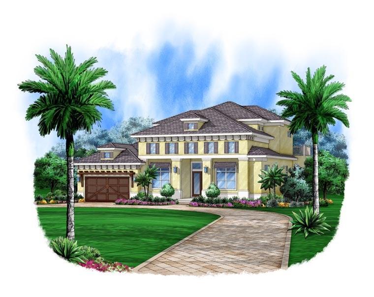 Florida Mediterranean House Plan 78111 Elevation