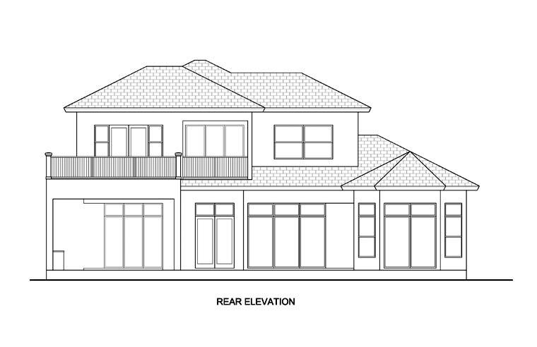 Florida Mediterranean House Plan 78111 Rear Elevation