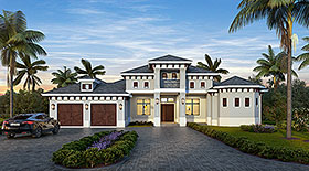 House Plan 78112 | Mediterranean Style Plan with 4016 Sq Ft, 4 Bedrooms, 5 Bathrooms, 2 Car Garage Elevation