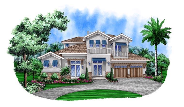 Mediterranean House Plan 78113 Elevation