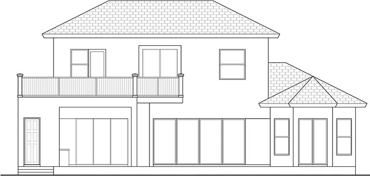 Florida Mediterranean House Plan 78115 Rear Elevation