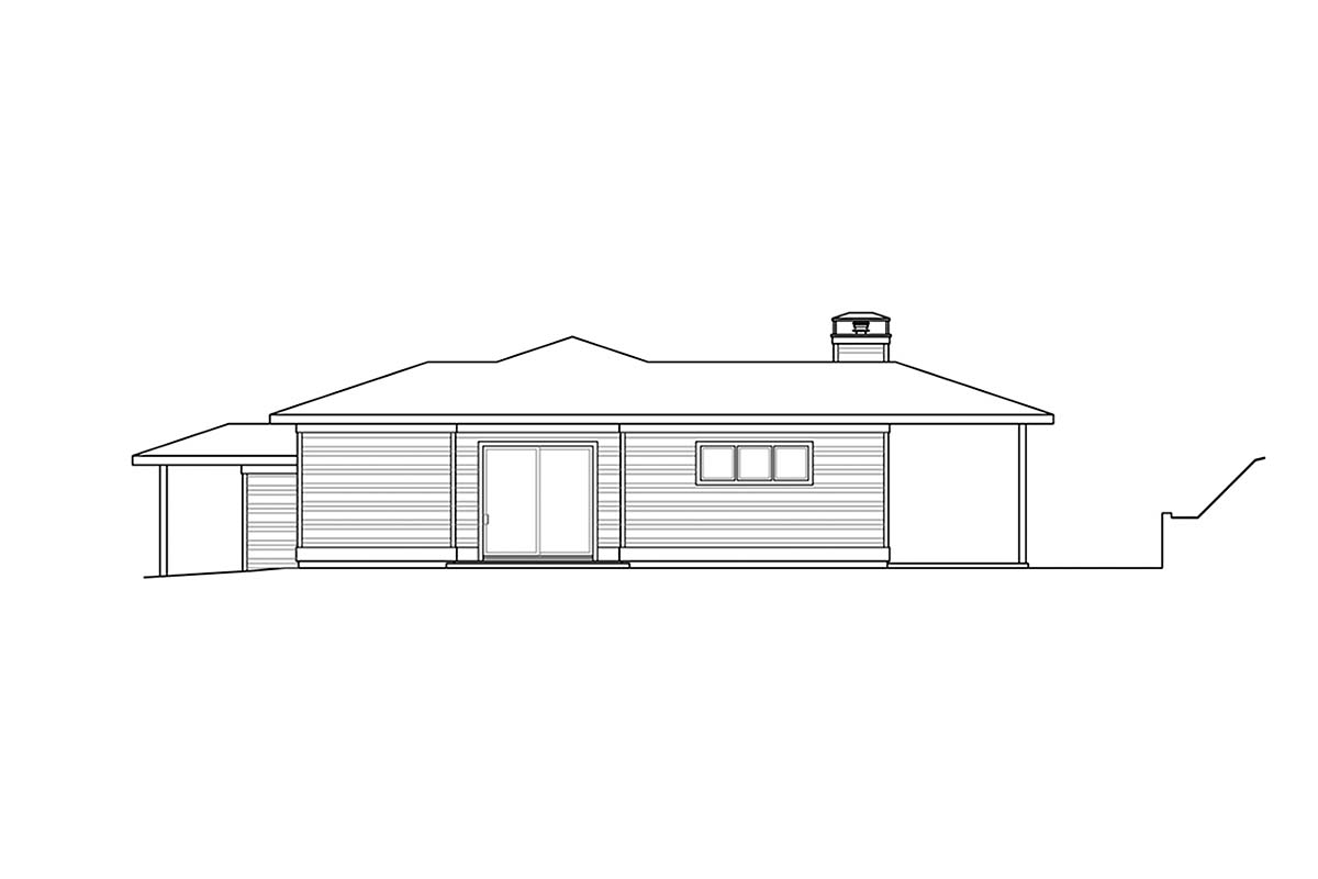 Contemporary, Modern, Prairie House Plan 78400 with 3 Beds, 3 Baths, 2 Car Garage Picture 1