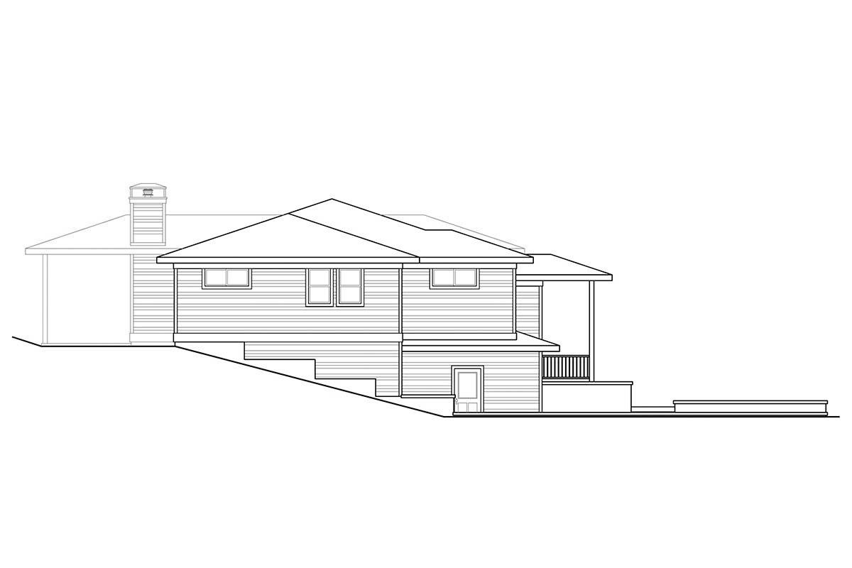 Contemporary, Modern, Prairie House Plan 78400 with 3 Beds, 3 Baths, 2 Car Garage Picture 2
