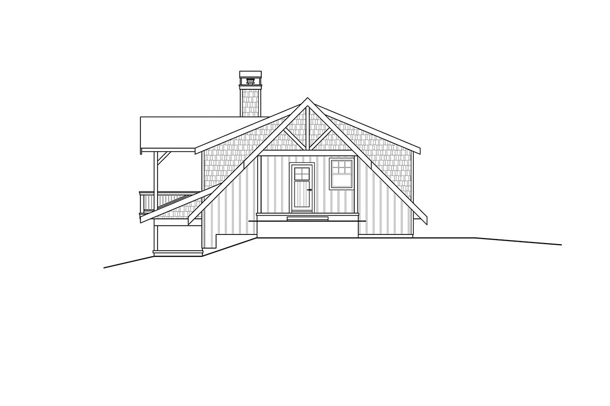 Cottage, Craftsman House Plan 78401 with 1 Beds, 2 Baths, 2 Car Garage Picture 1