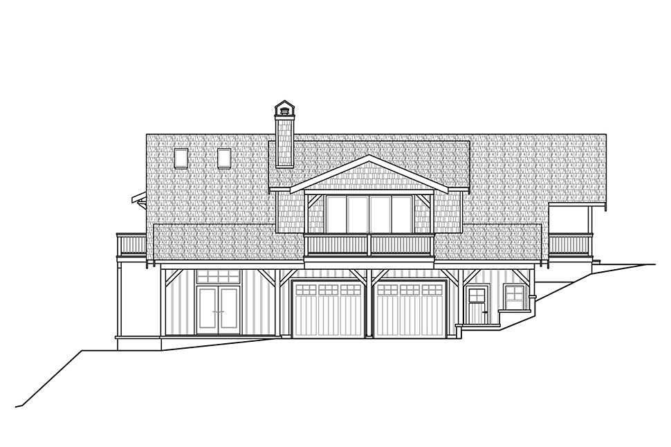 Cottage, Craftsman House Plan 78401 with 1 Beds, 2 Baths, 2 Car Garage Picture 3