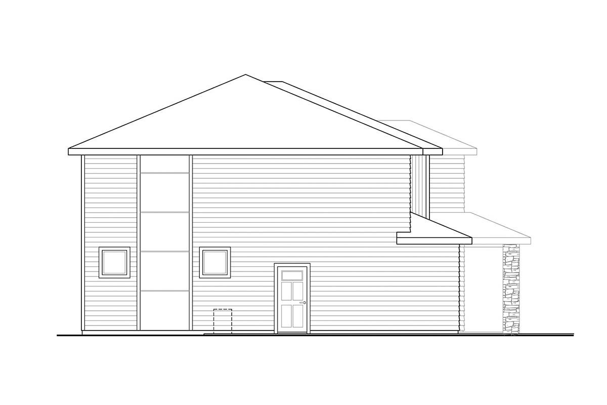 Contemporary, Craftsman, Prairie House Plan 78402 with 3 Beds, 3 Baths, 2 Car Garage Picture 2